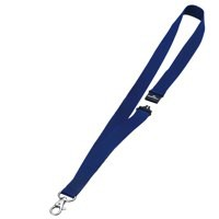 Durable Necklace Textile with Safety Closure for Name Badge Blue Ref 8137-07 [Pack 10]