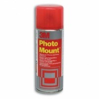Image for 3M PhotoMount Adhesive Spray Can CFC-Free Non-Yellowing 200ml Ref HPMOUNT