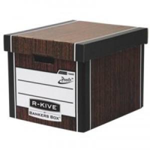 Bankers Box Prem 726 Tall StoBox W/grain