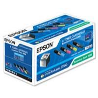 Epson S050268 Laser Toner Cartridge Page Life 6000pp Black/Cyan/Magenta/Yellow Ref C13S050268 [Pack 4]