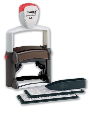 Trodat Professional 5253 D-I-Y Stamp Kit Ink Tweezers and Lettering 3mm 4mm 6 Line Black Ref 74513
