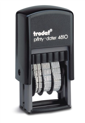 Trodat Printy 4810 Budget Mini Date Stamp Self-inking 20x3.8mm Black