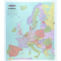 Image for Map Marketing Europa Political Map Unframed 64 Miles to 1 inch Scale 990x1010mm Ref WEURP