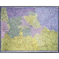 Map Marketing Postal Districts of London Map Unframed 1 Mile/inch W1180x930mm Ref GLPC
