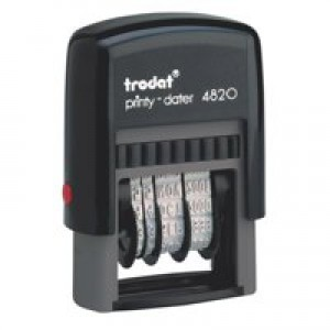 Trodat Printy 4820 Line Dater Stamp 3.8mm Refillable Black Ref 74000