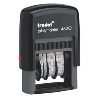 Trodat Printy 4820 Line Dater Stamp 3.8mm Refillable Black Ref 74000