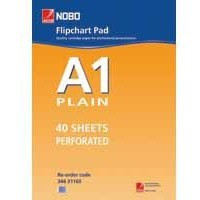 Nobo Flipchart Pad Perforated 40 Sheets A1 Plain Ref 34631165 [Pack 5]