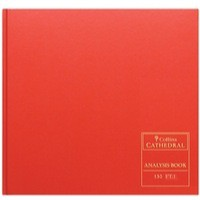 Collins Cathedral Red Analysis Book 12 Cash Column 96 Pages Code 150/12.1