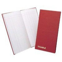 Guildhall Petty Cash Book Ruled 1 Debit 7 Credit 80 Pages 298x152mm Red Code T272