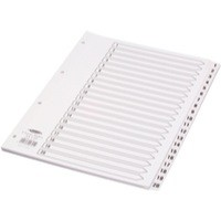 Concord Classic Index Mylar-reinforced Punched 4 Holes 1-20 A4 White Ref 00701/CS7