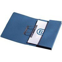 Elba Stratford Transfer Spring File with Pocket Recycled 315gsm 32mm Foolscap Blue