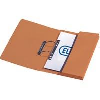 Elba Stratford Transfer Spring File Recycled Pocket 315gsm 32mm Foolscap Orange Ref 100090148 [Pack 25]