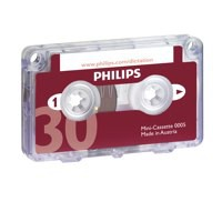 Image for Philips Mini Cassette Dictation 30 Minutes Total 15 per Side Ref 0005 [Pack 10]