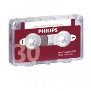 Philips Mini Cassette Dictation 30 Minutes Total 15 per Side Code LFH0005