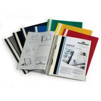 Durable Duraplus Quotation Filing Folder PVC With Clear Title Pocket A4 Assorted Code 2579/00