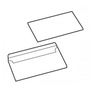 White Box Envelopes Press Seal Non-Window 90gsm DL Ref 88469 [Pack 1000]