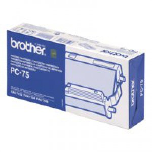 Brother Ribbon Cassette Cartridge 144 Page Yield Black Ref PC75