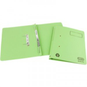 Elba Spirosort Transfer Spring File Recycled 315gsm 35mm Foolscap Green