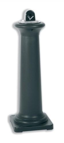 Rubbermaid Ash Bin Free-standing Weather-resistant 311x311x1001mm Black Ref 9W30-00-BLA