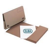 Elba Document Wallet Full Flap 285gsm Capacity 32mm Foolscap Buff Ref 100090130 [Pack 50]