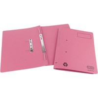 Elba Spirosort Transfer Spring File Recycled 315gsm 35mm Foolscap Pink Ref 100090162 [Pack 25]
