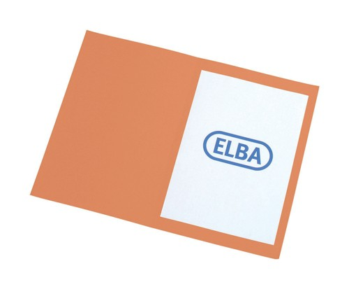 Elba Square Cut Folder Recycled Lightweight 180gsm A4 Orange Ref 100090205 [Pack 100]