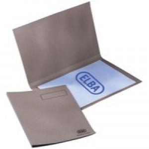 Elba Square Cut Folder Recycled Heavyweight 290gsm Foolscap Buff Ref 100090216 [Pack 100]