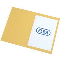 Elba Square Cut Folder Recycled Heavyweight 290gsm Foolscap Yellow Ref 100090223 [Pack 100]
