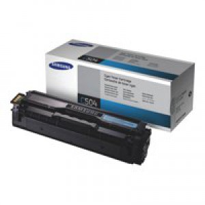 Samsung Laser Toner Cartridge Page Life 1800pp Cyan Ref CLT-C504S/ELS