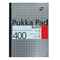 Pukka Pad A4 Refill Pad 400 page 80gsm White Paper Blue Code REF400
