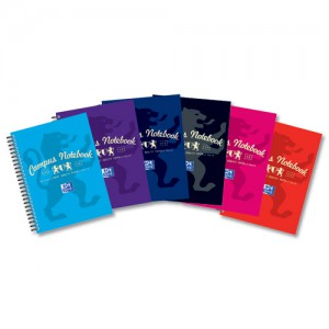 Campus Project Book Laminated Card Cover Wirebound 140 Pages 2 Hole 90gsm A5Plus Ref 400013922