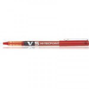 Pilot V5 Hi-Tecpoint Ultra Rollerball Pen 0.3mm Line Red BXV502