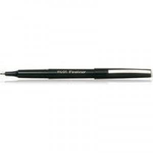 Pilot Fineliner Pen Medium 1.2mm Tip 0.4mm Line Black Code SWPPF01