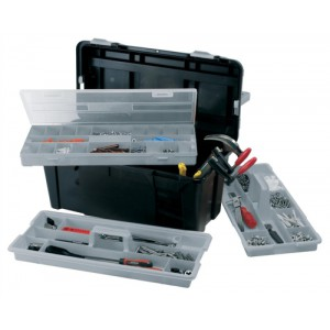 Raaco 23in Toolbox with 2 Removable Trays Code 715195