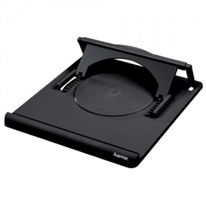 Hama Notebook Laptop Stand Portable Variable Angle 0-20degrees Black Ref 051062