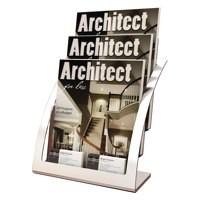 Deflecto Contemporary Counter Top Magazine Holder Code 693745