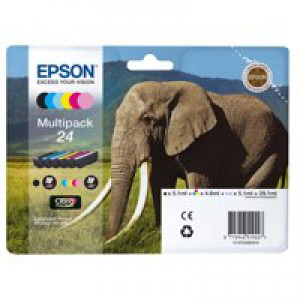 Epson 24 Elephant Claria Photo HD Ink Multipack T2428