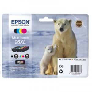 Epson 26XL Polar Bear Claria Premium Ink Multipack T2636