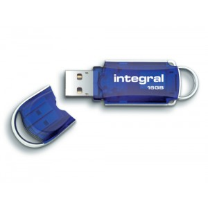 Integral Courier USB 3.0 Flash Drive Blue 16GB Ref INFD16GBCOU3.0