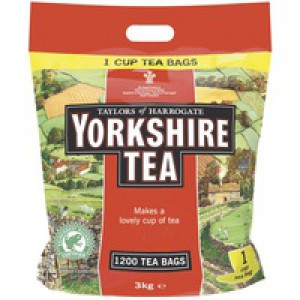 Yorkshire 1-Cup Tea Bag Pack 1200 Code 1109