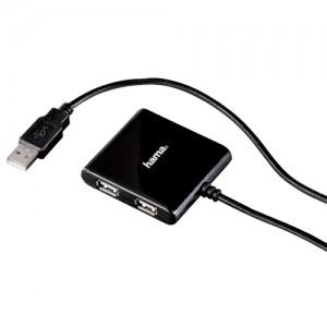 Hama USB 2.0 4-port Hub Black Code 00039873