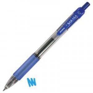 Zebra Sarasa Retractable Rollerball Gel Ink Pen Medium Blue Ref 46820 [Pack 12]