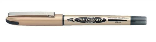 Zebra AX7 Rollerball Liquid Ink Pen Medium Black Pack 10 Code 15991
