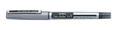 Zebra DX5 Rollerball Liquid Ink Pen Fine Needle Point Black Pack 10 Code 16071