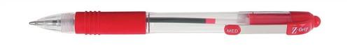 Zebra Z-Grip Retractable Ball Pen Metal Clip Medium Red Ref 22230 [Pack 12]