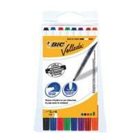 Bic Velleda Drywipe Marker 1721 Bullet Tip 1.5mm Line Assorted Ref 1199005728 [Pouch 8]