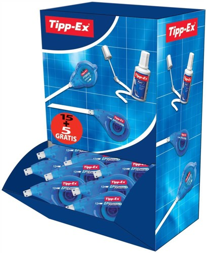 Bic Tipp-ex Easy Correct Pack 15 & 5 Code 895951