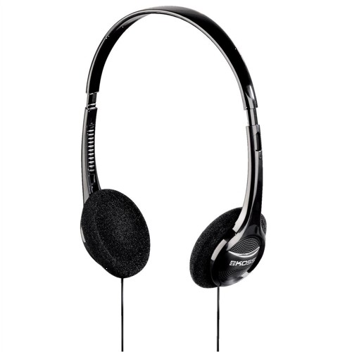 Computer Headset Padded Volume Control 2.5m Cable Black