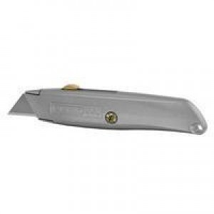 Stanley Retractable Blade Knife Original Die-cast Metal Body and 3 Assorted Blades Ref 2-10-099