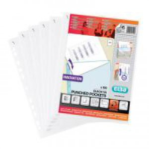 Elba Punched Pocket Polypropylene Quick Insert A4 Clear Ref 400012939 [Pack 100]